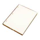 Looseleaf Minute Book Ledger Sheets, Ivory Linen, 11 x 8-1/2, 100 Sheet/Box WLJ90110