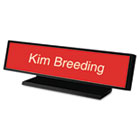 Architectural Desk Sign with Name Plate, Black, Radius Edge USS5703