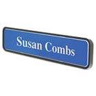 Architectural Wall Sign, 1 3/4 x9, Radius Corners, Black USS5597