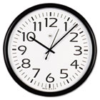 "Round Wall Clock, 13-1/2"", Black UNV11641"