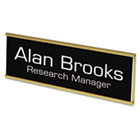 Custom Door/Wall Sign, 2x8, Gold Holder, ABS Sign USS93200