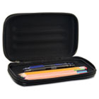 Large Soft-Sided Pencil Case, Fabric with Zipper Closure, Black AVT67000