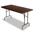 Folding Table, Rectangular, 60w x 30d x 29h, Walnut ALEFT726030WA