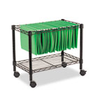 Single-Tier Rolling File Cart, 24w x 14d x 21h, Black ALEFW601424BL
