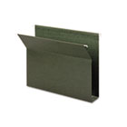 Two Inch Capacity Box Bottom Hanging File Folders, Letter, Green, 25/Box SMD65090
