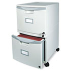 Two-Drawer Mobile Filing Cabinet, 14-3/4w x 18-1/4d x 26h, Gray STX61301B01C