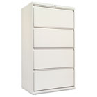 Four-Drawer Lateral File Cabinet, 30w x 19-1/4d x 53-1/4h, Light Gray ALELF3054LG