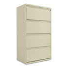 Four-Drawer Lateral File Cabinet, 30w x 19-1/4d x 53-1/4h, Putty ALELF3054PY
