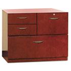 Mira Series Veneer Multipurpose Storage Unit, 30w x 19d x 27-3/4h, Medium Cherry MLNMMPSU1930MC