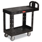 Flat Shelf Utility Cart, Two-Shelf, 19-3/16w x 37-7/8d x 33-1/3h, Black RCP450500BK