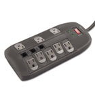 Surge Protector, 8 Outlets, 6 ft Cord, 2160 Joules, Black IVR71656