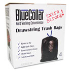 Drawstring Trash Bags, 20-30gal, 1mil, 30 x 34, Black, 40/Box HERN6034YKRC1