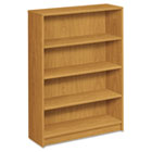 1870 Series Bookcase, Four-Shelf, 36w x 11-1/2d x 48-3/4h, Harvest HON1874C