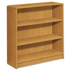 1890 Series Bookcase, Three-Shelf, 36w x 11-1/2d x 36-1/8h, Harvest HON1892C