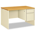 38000 Series Right Pedestal Desk, 48w x 30d x 29-1/2h, Harvest/Putty HON38251CL