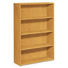 10500 Series Laminate Bookcase, Four-Shelf, 36w x 13-1/8d x 57-1/8h, Harvest HON105534CC