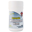 Disposable White Board Wipes, 6 x 6 1/2, White, 80/Canister FALDWBT