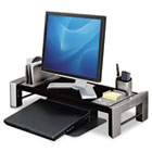 Flat Panel Workstation Shelf, 25 7/8 x 11 1/2 x 4 1/2, Gray Laminate Top FEL8037401