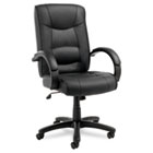 Strada Series High-Back Swivel/Tilt Chair, Black Top-Grain Leather Upholstery ALESR41LS10B