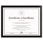 Value U-Channel Document Frame w/Certificates, 8-1/2 x 11, Black DAXN17000N