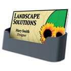 Recycled Business Card Holder, Holds 50 2 x 3 1/2 Cards, Black DEF90104