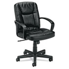 VL171 Executive Mid-Back Chair, Black Leather BSXVL171SB11