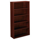 BL Laminate Series Bookcase, Five-Shelf, 32w x 13-13/16d x 65-3/8h, Mahogany BSXBL2194NN
