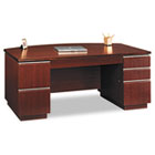 "72""W Bow Front Double Pedestal Desk (Box 2 of 2) Milano 2, Harvest Cherry BSH50DBF72A2CS"