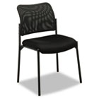VL506 Series Stacking Guest Chair, Mesh Back, Padded Mesh Seat, Black BSXVL506MM10