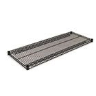 Industrial Wire Shelving Extra Wire Shelves, 48w x 18d, Black, 2 Shelves/Carton ALESW584818BL