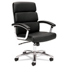 VL103 Series Executive Mid-Back Chair, Black Leather BSXVL103SB11