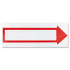 Stake Sign, 6 x 17, Blank White with Printed Red Arrow COS098056