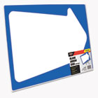Stake Sign, Blank White with Printed Blue Arrow, 15 x 19 COS098226