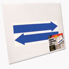 Stake Sign, Blank White, Includes Directional Arrows,  15 x 19 COS098055