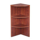 Valencia Upper End Cap Bookcase, Three-Shelf, 15w x 15d x 35-1/2h, Medium Cherry ALEVA621515MC