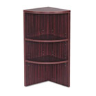 Valencia Series Upper End Cap Bookcase, Three-Shelf, 15 x 15 x 35-1/2, Mahogany ALEVA621515MY