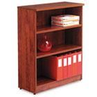Valencia Series Bookcase, Three-Shelf, 31-3/4w x 14d x 39-3/8h, Medium Cherry ALEVA634432MC