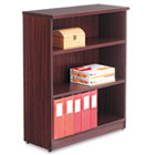 Valencia Series Bookcase, Three-Shelf, 31-3/4w x 14d x 39-3/8h, Mahogany ALEVA634432MY