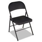 All Steel Folding Chair, Steel, 18-1/4w x 19d x 30h, Black, 4/Carton CSC1471105X