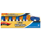 "Wite-Out EZ Correct Correction Tape, Non-Refillable, 1/6"" x 472"", 10/Box BICWOTAP10"