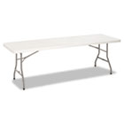 8 Foot Blow Molded Folding Table, 96w x 30d x 29-1/4h, White CSC14188WSP1