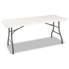 6 Foot Blow Molded Folding Table, 72w x 30d x 29-1/4h, White CSC14168WSP1