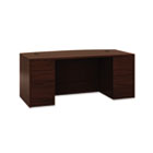 10500 Bow Front Double Pedestal Desk, Full-Height Pedestals, 72w x 36d, Mahogany HON105899NN