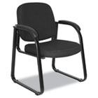 Reception Lounge Series Sled Base Guest Chair, Black Fabric ALERL43CFA10B