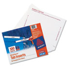 Laser/Inkjet Hanging File Folder Inserts, 1/3 Tab, 3 1/2 Inch, White, 100/Pack AVE11137