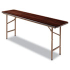 Folding Table, Rectangular, 72w x 18d x 29h, Walnut ALEFT727218WA