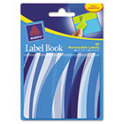 Removable Label Pad Books, 1 x 3 Blue & 2 x 3 Green, Blue Wavy, 80/Pack AVE22072