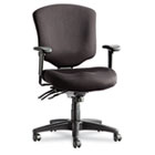 Wrigley Pro Series Mid-Back Multifunction Chair w/Seat Glide, Black ALEWP42SFB10B