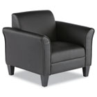 Reception Lounge Series Club Chair, Black/Black Leather ALERL23LS10B