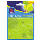 Removable Label Pad Books, 1 x 3 Yellow & 2 x 3 Green, Green Circles, 80/Pack AVE22065